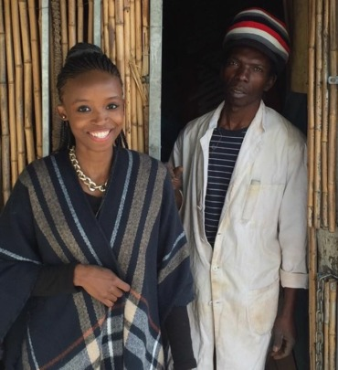 Zola visiting the Langa community
