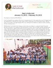 2012 Uplift a Child Annual Programs in India (PDF)