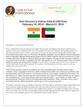 2014 Uplift a Child Mission Trip to India (PDF)