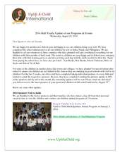 2014 Uplift a Child Half Yearly Report (PDF)