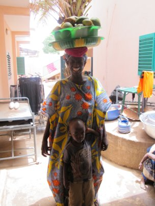 Patient at the clinic wearing the cloth