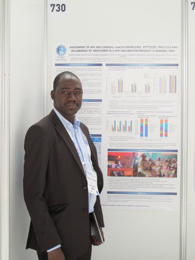 Dr. Tounkara presenting data at the HPV conference