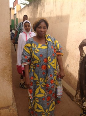 Dr. Fanta wearing the HPV cloth