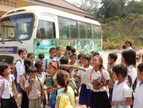 Laughing and Learning by the Kouprey Express bus