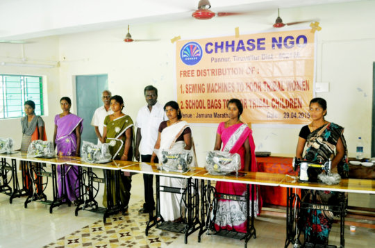 free distribution of sewing machines