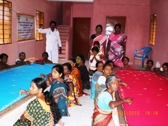 Embroidery training to SHG women