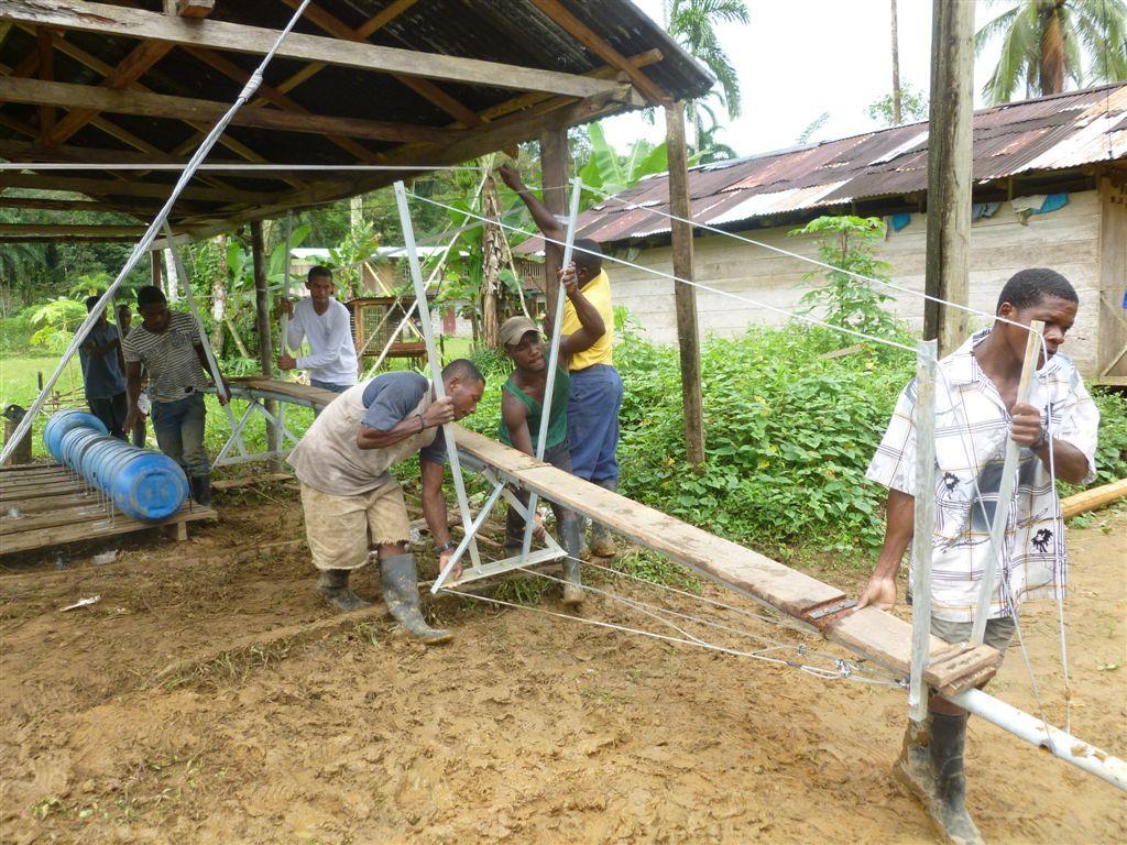 River turbine installation