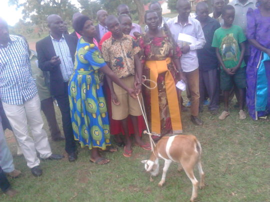 Beneficiary given a goat