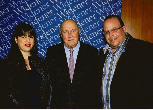 Amy and Jon Ostroff with F W de Klerk, 2/11