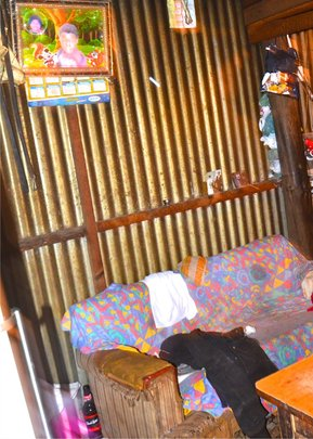 Interior view of Tyron's home