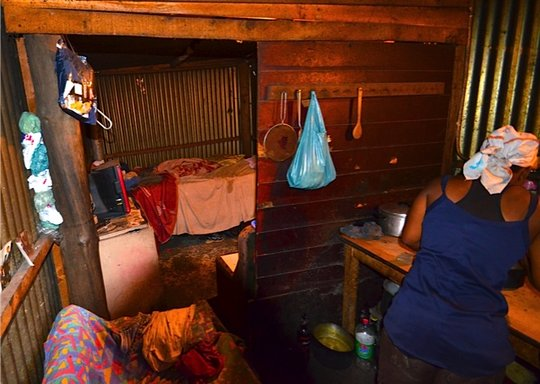 Tyron's mother in their home