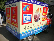 Rotarians spread the word about World Polio Day