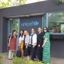Rotary staff visiting UNICEF offices in India