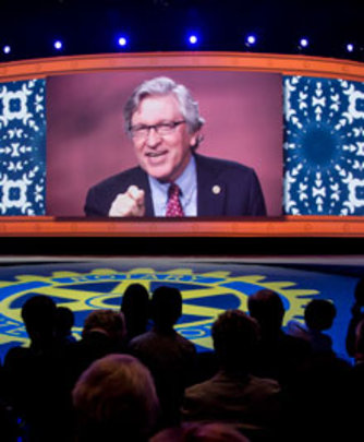 Gates announces new match at Rotary Convention