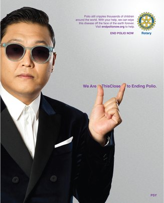Celebrity PSY joins Rotary's 'This Close' Campaign