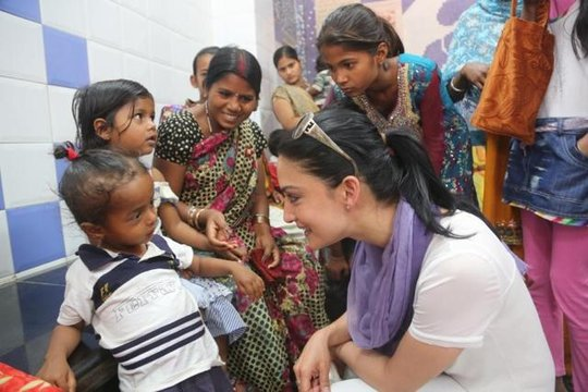 Rotary polio ambassador and actress Archie Panjabi