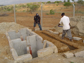 The Pit Latrine is almost complete