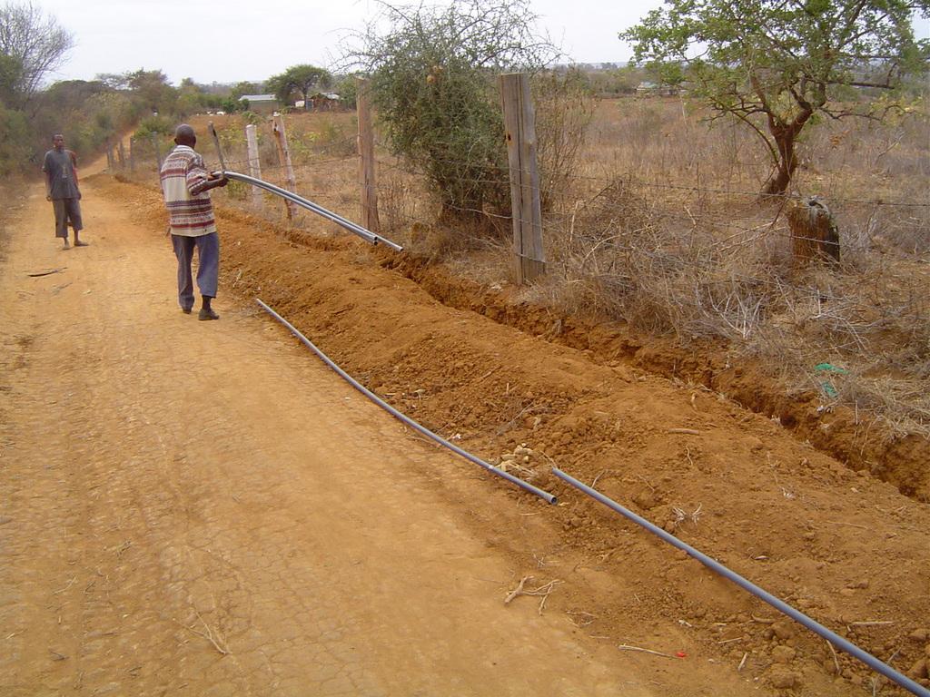 Water line installed from Wamunyu