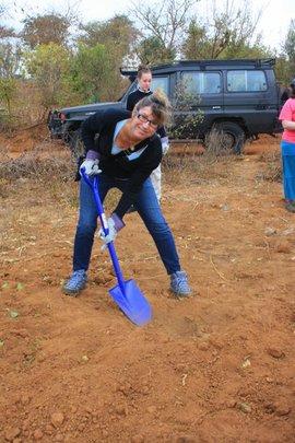 Laura Digging Holes!