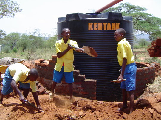 KC Success: 1 of 45 Water Tanks Installed