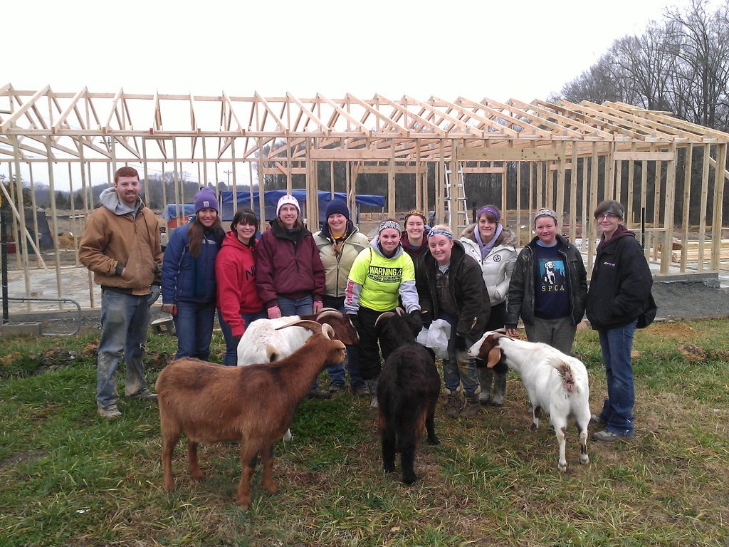 Raising the roof on the new barn