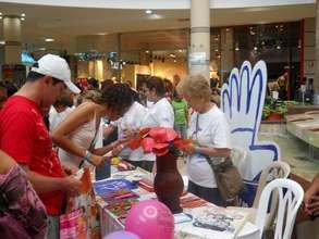 Mall art work exhibition
