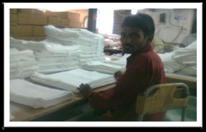 Baldev Bhangi working