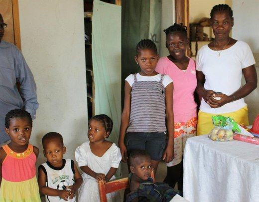 Claudette on the right with the children.