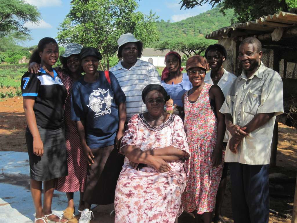 Chipo Dube(Project manager) at Rimbi village