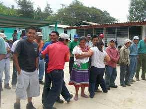 Happy parents in Las Margaritas