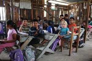 Children in indigenous school
