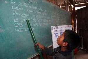 Indigenous child in school