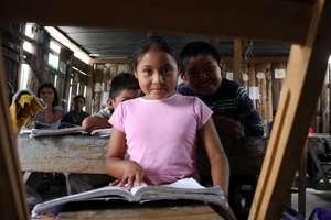 Girl in school in Las Margaritas