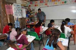 Indigenous children in school