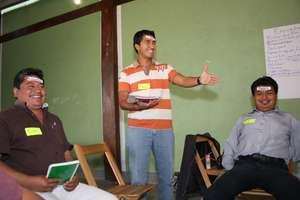 Teachers in workshop activities