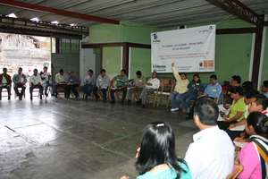 Group discussion during training