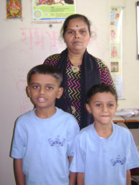 Bhushan with his mother & sister