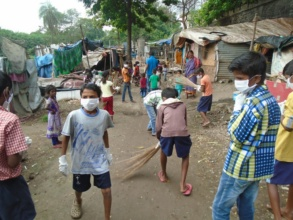 Cleanliness drive by kids