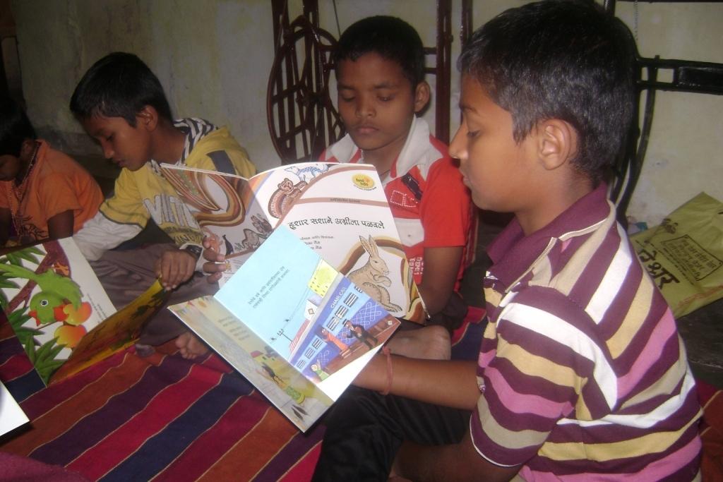 Engrossed in their favorite stories
