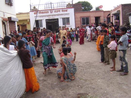 Celebration of a festival -establishing rapport