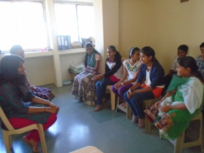 Kavita from Global Giving Interacting with girls