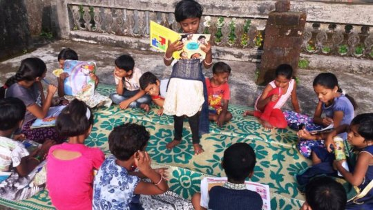 Story-telling in a study centre