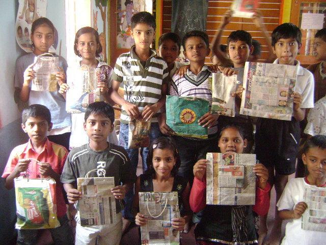 Pledge- make & use paper bags.