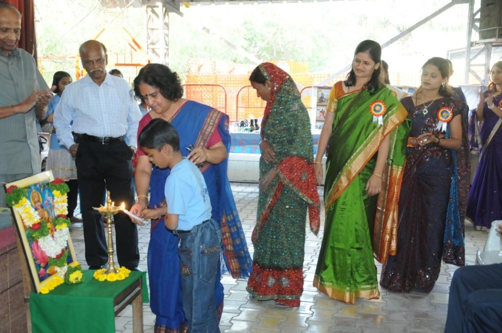 Seeking blessings of Goddess Saraswati