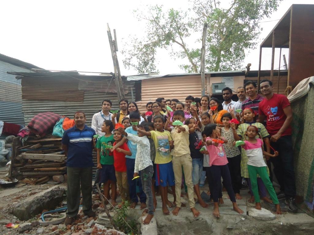 Volunteers from Cisco