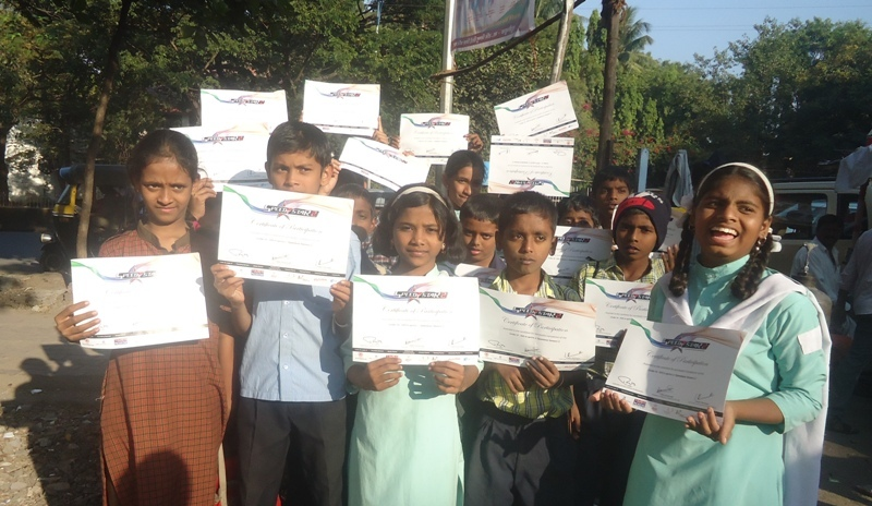 Proudly showing their certificates