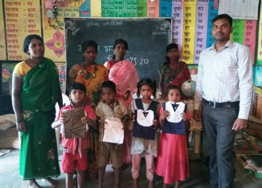New clothes gifted to tribal children