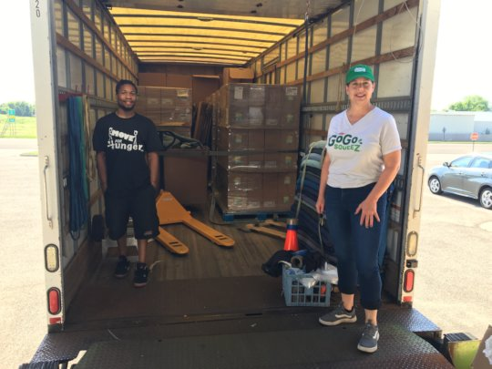 AAA Movers Help Transport GoGo Squeez Pouches
