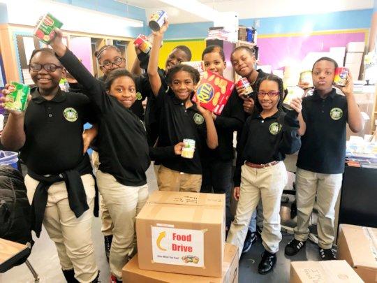 Invictus Prep Charter School Held a Food Drive