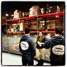 January visit to Long Island Cares foodbank